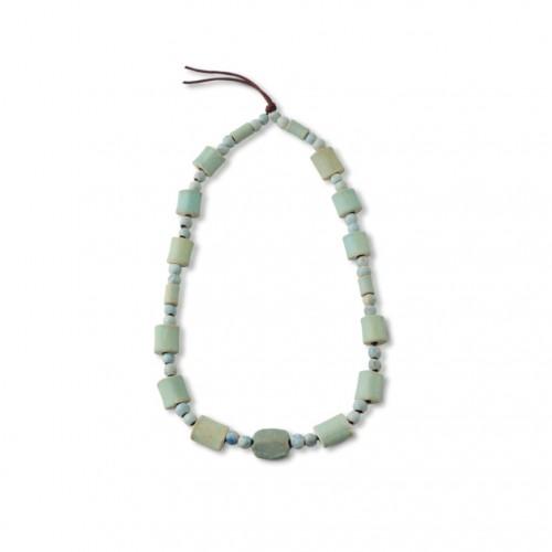费昂斯龟背珠 春秋至战国(前770年-前221年) 原始玻璃管珠。 Faience Tortoise Shell Beads Probably Western Zhou to Warring States Period (770 B.C.-221 B.C.) Primeval Glass Tube Beads.