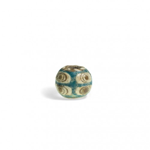 陶胎八眼蜻蜓眼珠 约战国(前476年-前221年) Ceramic Eight Eye Dragonfly Eye Glass Beads Probably Warring States (476 B.C.-221 B.C.)