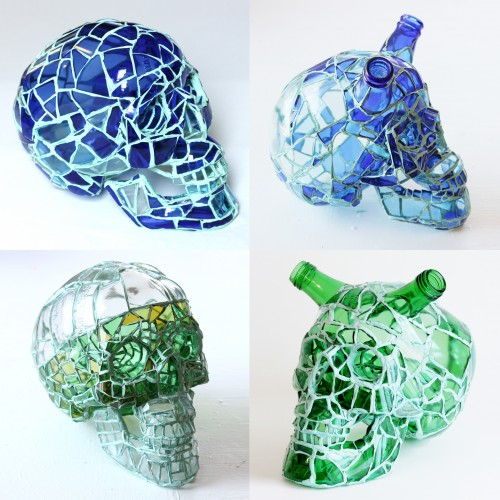 破碎玻璃头骨 Broken Bottle Skulls