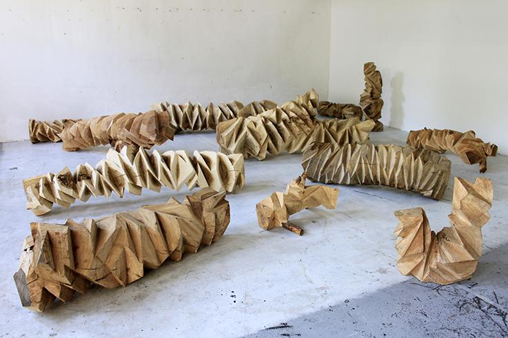 杨心广 剩余体积 2014 木 The Remaining Volume 2014 Wood 不定尺寸