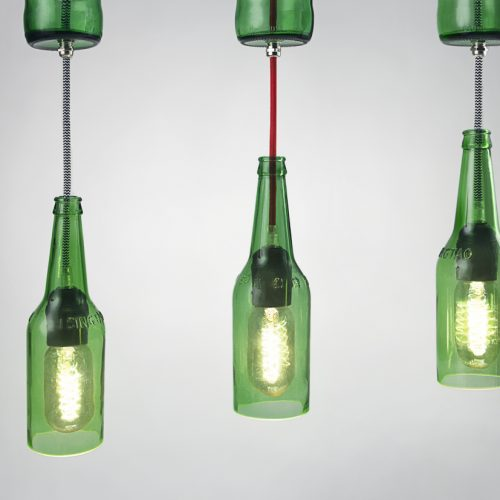酒瓶吊灯</br>Bottle Lamps